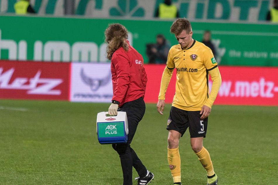 Humpelnd ging Dzenis Burnic in Fürth vom Feld. Für ihn dürfte es reichen.