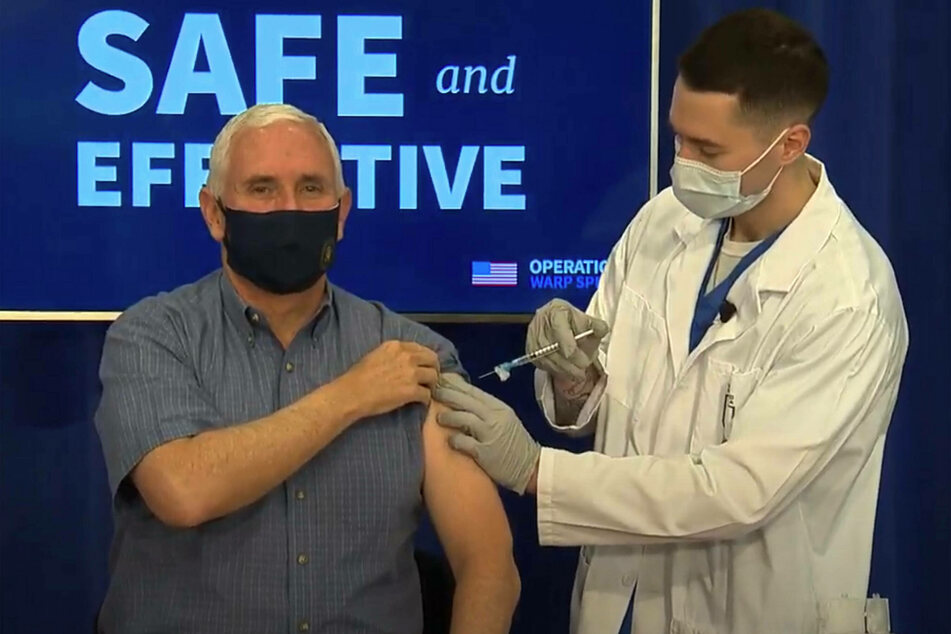 Mike Pence received his Covid-19 vaccine on live television.