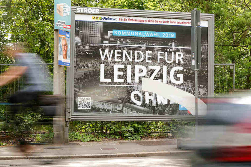 Das AfD-Plakat mit dem missbrauchten Foto.