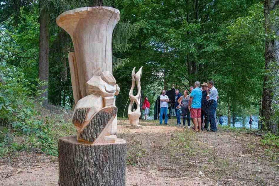 """Das Symposium """"Kunst am Wasser"""" gibt es seit 2001. Mehr als 40 Werke sind seitdem für den Kriebsteiner Kunstwanderweg entstanden - zuletzt 2017."""