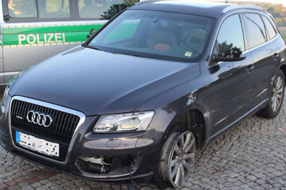 Dieser Audi wurde in Lübben gestohlen und schließlich in Bayern wiedergefunden.