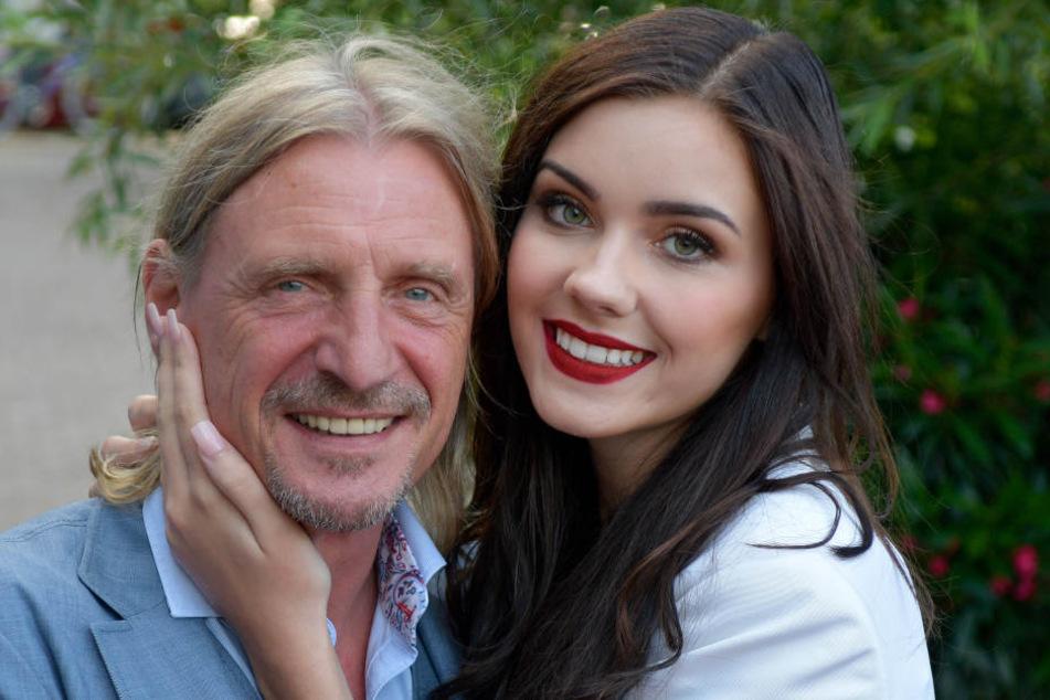 """Nathalie Volk wurde durch """"Germany's next Topmodell"""" bekannt. Seit 2015 ist sie mit Medienunternehmer Frank Ott (l) liiert."""