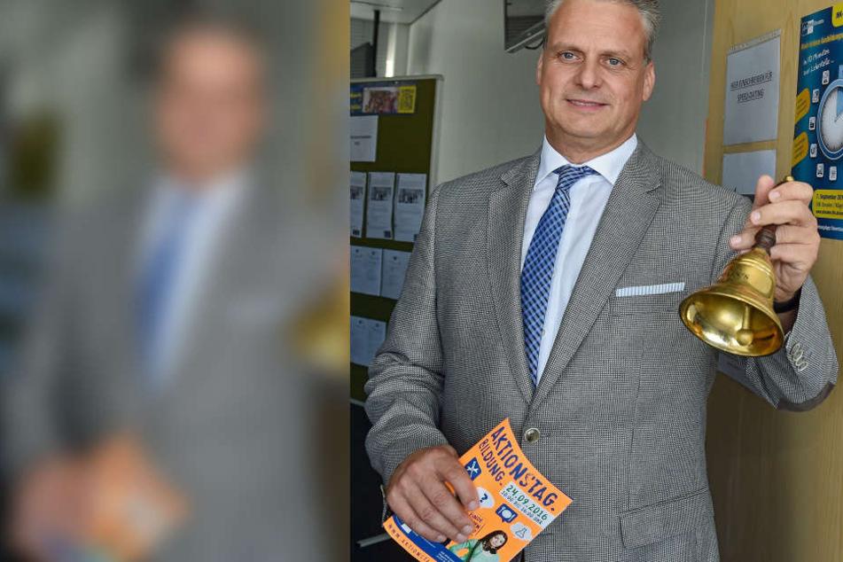IHK-Bildungs-Geschäftsführer Torsten Köhler läutete das Speed-Dating ein.