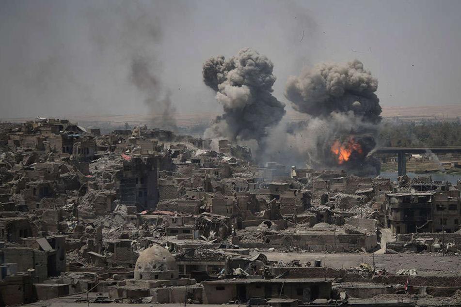 Die Stadt Mossul wurde durch die anhaltenden Kämpfe zerstört.
