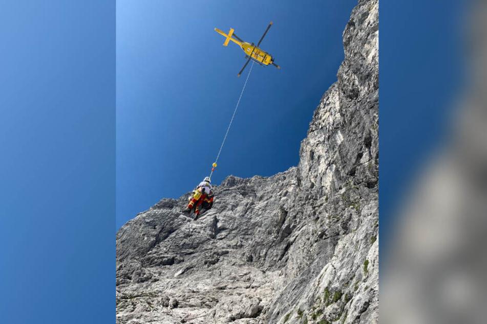 Die Bergwacht konnte nur noch den Leichnam des Mannes bergen.