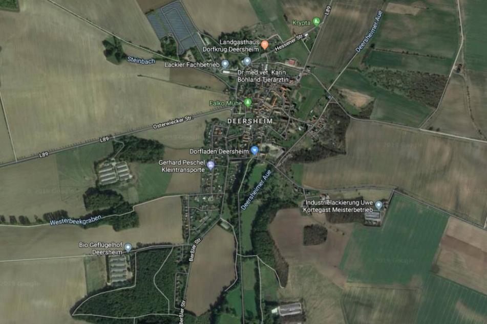 Der Vorfall ereignete sich in Deersheim, einem Ortsteil von Osterwieck im Harz.