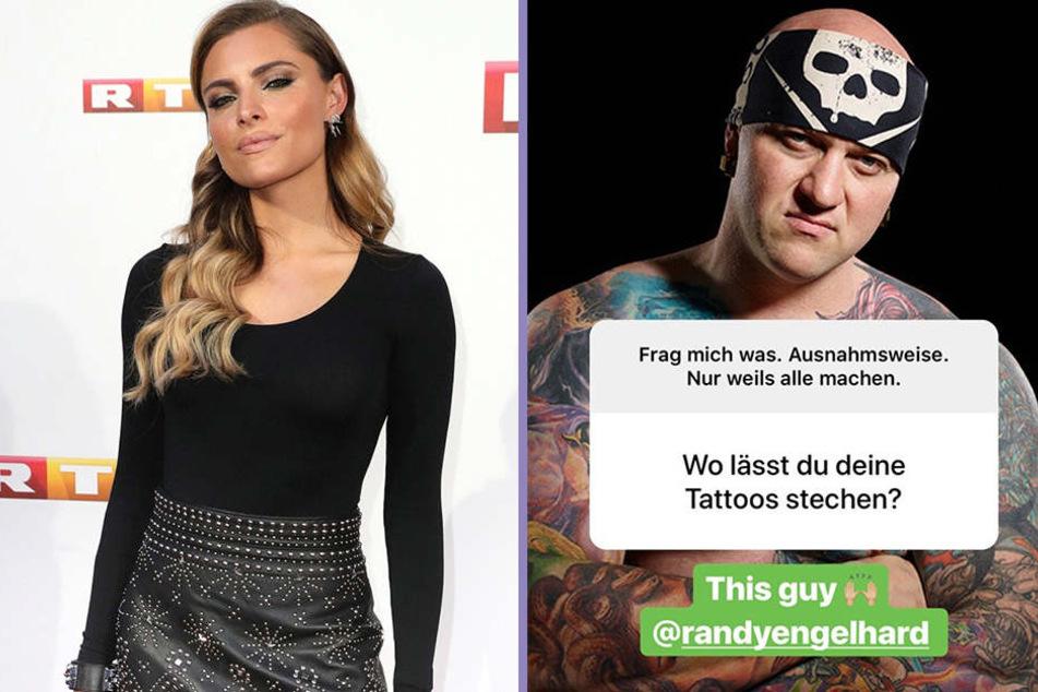 In dieser Instagram-Fragerunde lüftete Sophia Thomalla (28,r.) das Geheimnis: Randy Engelhard (39, l.) soll das Helene-Tattoo stechen.