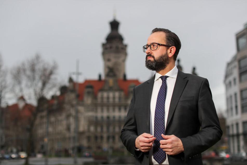 Das Leipziger Rathaus ist seit drei Jahrzehnten in SPD-Hand. Leidet Sebastian Gemkows Wahlkampf unter der politischen Lage nach Thüringen?