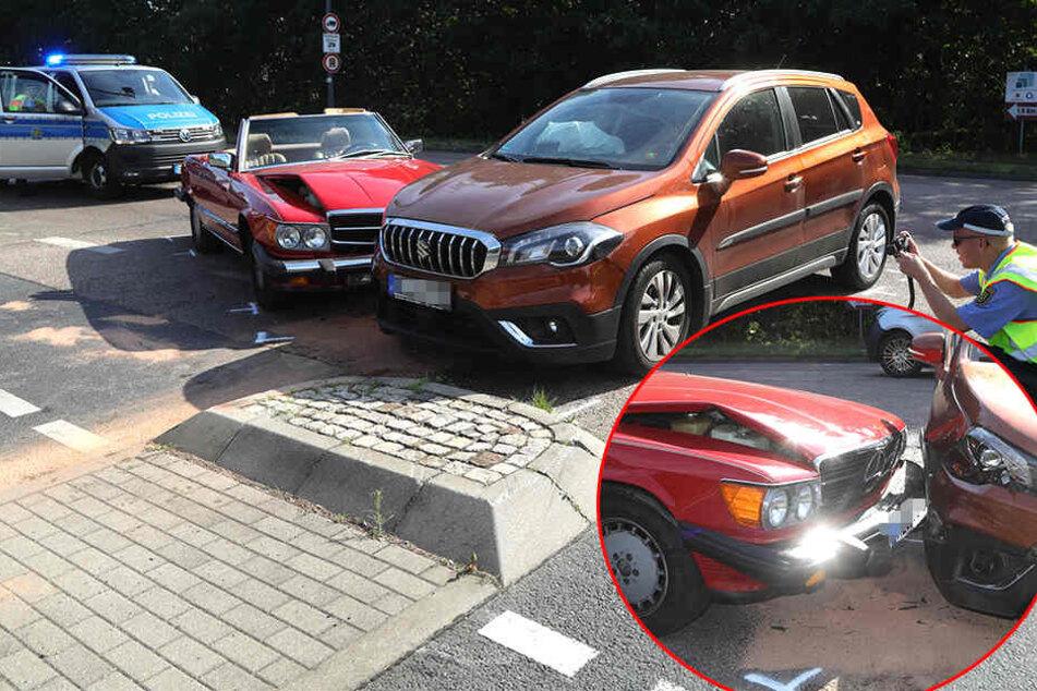 Crash mit Mercedes-Cabrio sorgt für Behinderungen im Dresdner Berufsverkehr