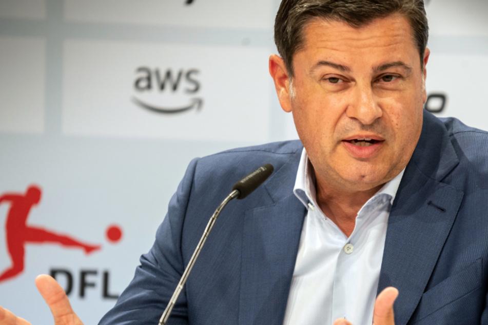 Christian Seifert, Vorsitzender der Geschäftsführung der DFL Deutsche Fußball Liga GmbH, spricht bei einer Pressekonferenz.