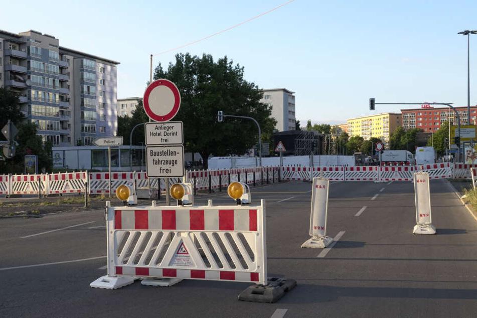 Mehrere Straßen in der Innenstadt wurden für die Veranstaltung gesperrt.