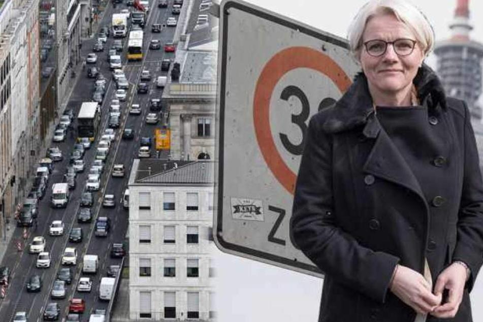 Berlins Verkehrssenatorin Regine Günther (56, parteilos) prüft das Diesel-Fahrverbot für einzelne Straßen.
