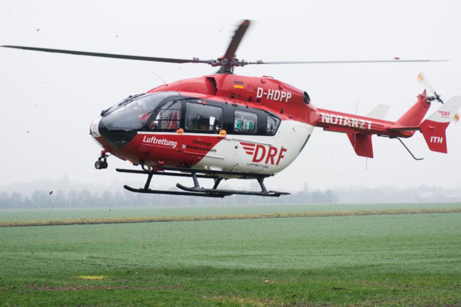 Ein Rettungshubschrauber brachte das Mädchen in eine Klinik (Symbolfoto).