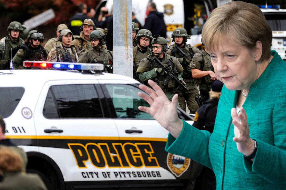 Kanzlerin Merkel verurteilt antisemitischen Anschlag auf Synagoge mit 11 Toten