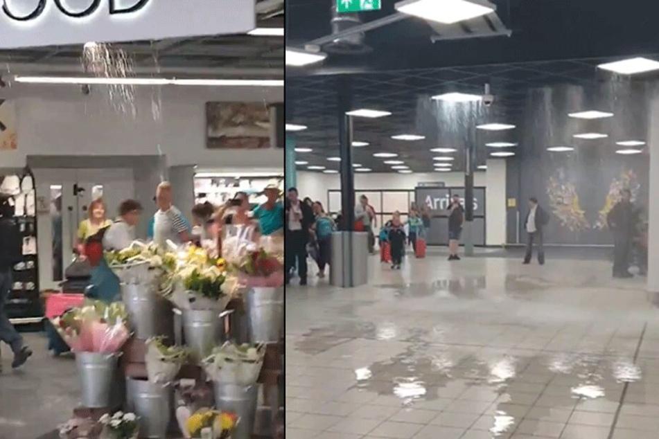 Chaos am Flughafen: Plötzlich stand ein Terminal unter Wasser