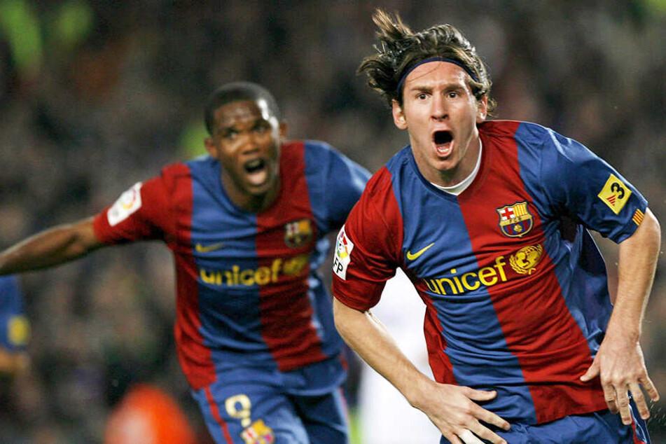 Auch an der Seite von Superstar Lionel Messi (r.) blühte Samuel Eto'o beim FC Barcelona auf und verlebte dort die erfolgreichste Zeit seiner Karriere.