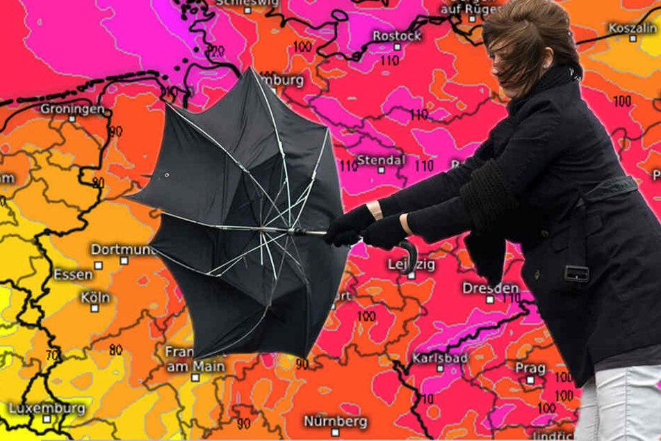 Alarmstufe Rot! Heftiger Sturm rollt auf Deutschland zu