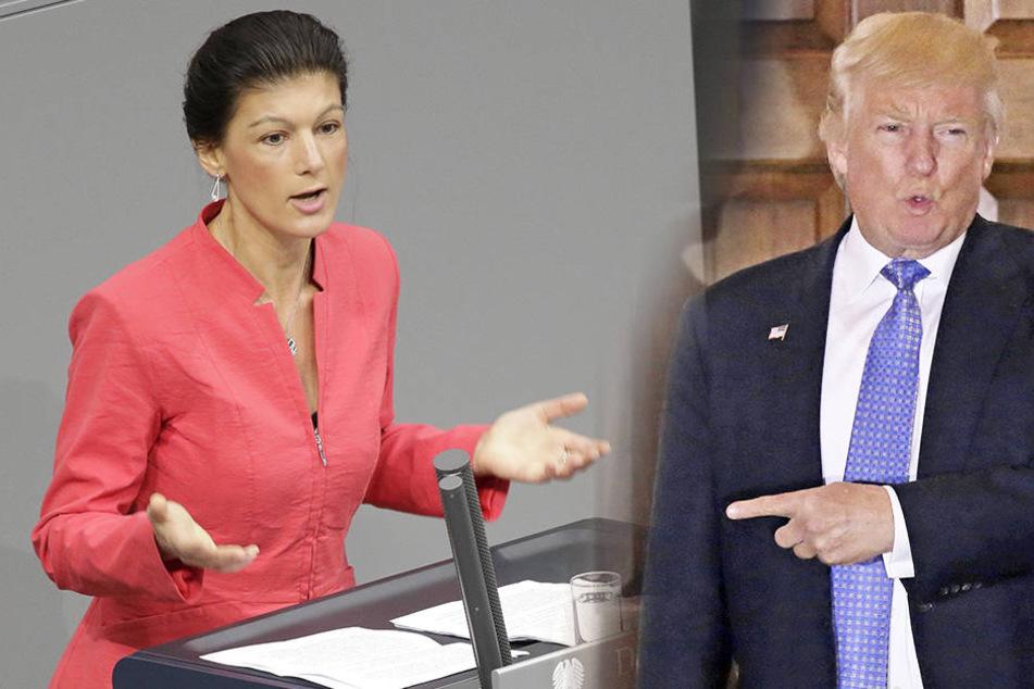 Haben Sahra Wagenknecht (47, Die Linke) und Donald Trump (70) mehr gemeinsam als beide für möglich halten?