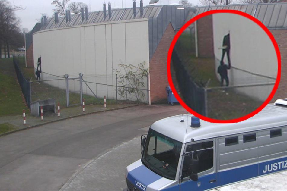 Mann überwindet Stacheldraht-Zaun und bricht aus dem Knast aus