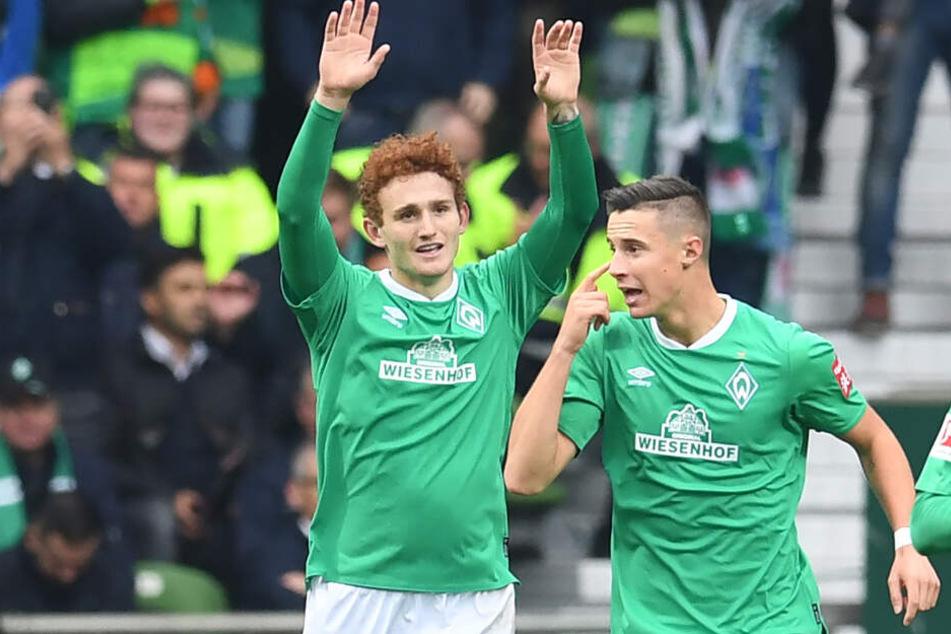 Führungstreffer: Joshua Sargent (l.) erzielte das 1:0 für SV Werder Bremen.