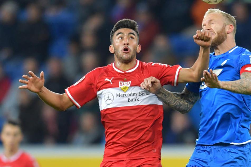Sieht schlecht aus: VfB-Stürmer Nicolás Gonzalez.