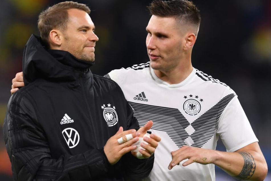 Niklas Süle (r.) wird der deutschen Nationalmannschaft vorerst fehlen.