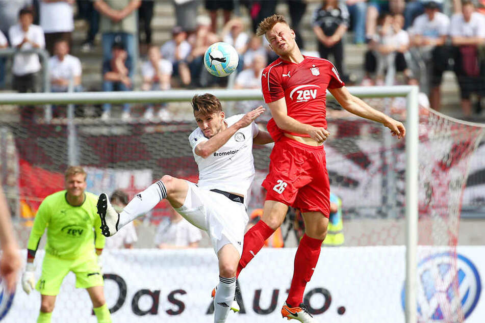 Per Kopf traf Sebastian Mai gegen Elversberg zum 1:1.