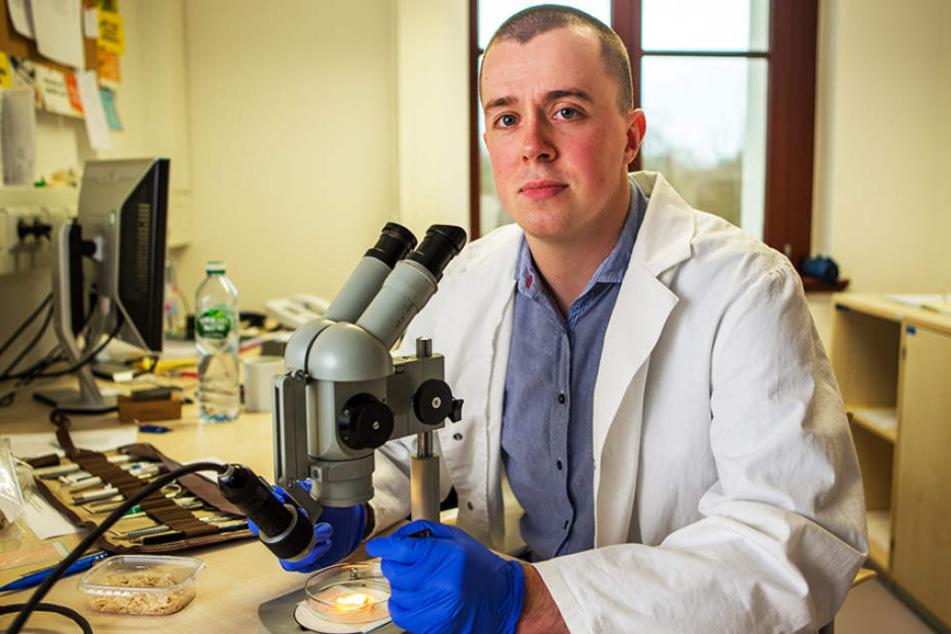Gefragter Experte: Marcus Schwarz (29) arbeitet am Institut für Rechtsmedizin  in Leipzig.