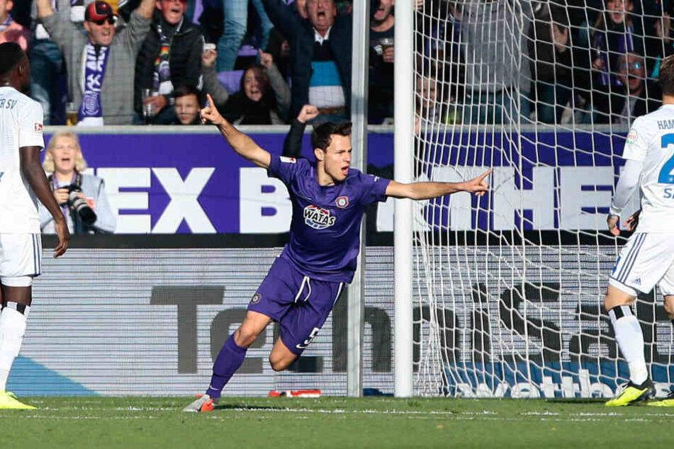 Der Aufsteiger der Saison: Tom Baumgart glänzte erst am Sonntag mit seinem Siegtor gegen Osnabrück.
