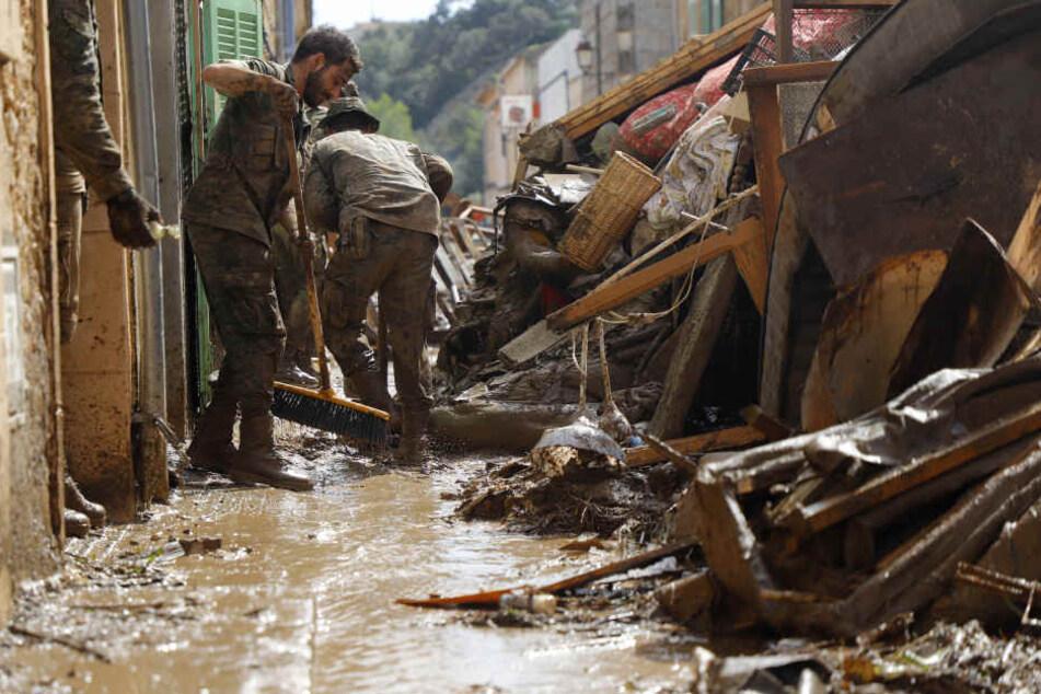 Das Chaos und die Verwüstung auf Mallorca nach dem heftigen Unwetter sind riesengroß.