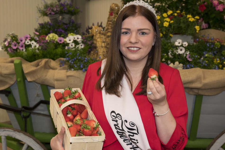 Lisa Graupeter ist die neue Erdbeerkönigin in Thüringen.