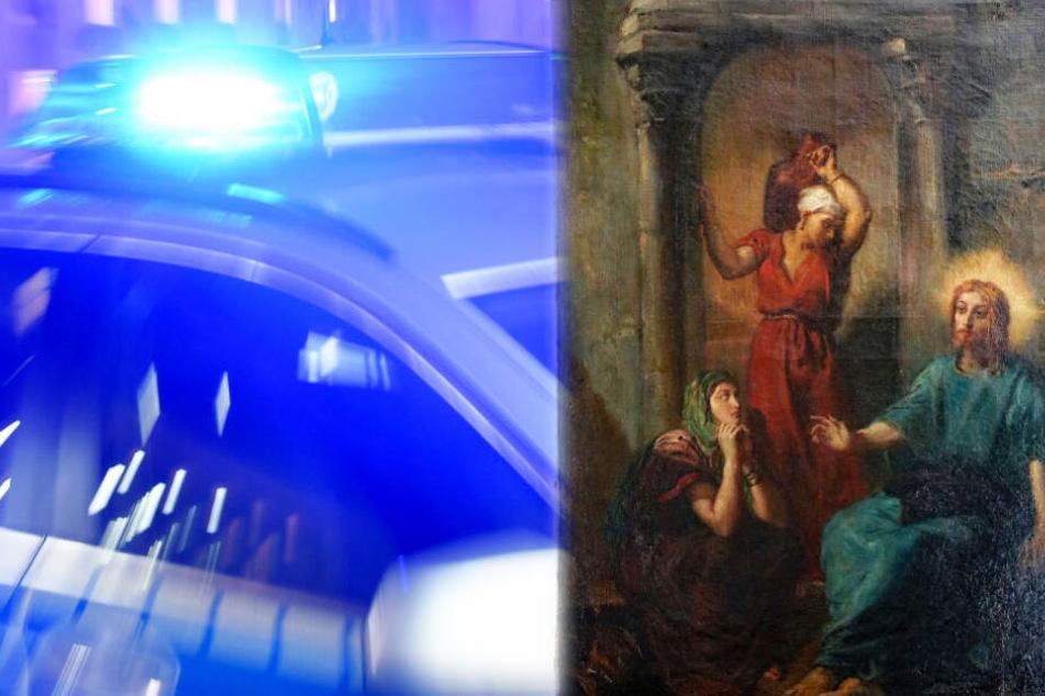 """Das Gemälde """"Jesus bei Martha und Maria"""" wurde von der Polizei in Wiesbaden sichergestellt."""