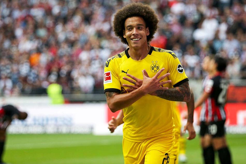 Dortmunds Axel Witsel bejubelt seinen 1:0-Führungstreffer.