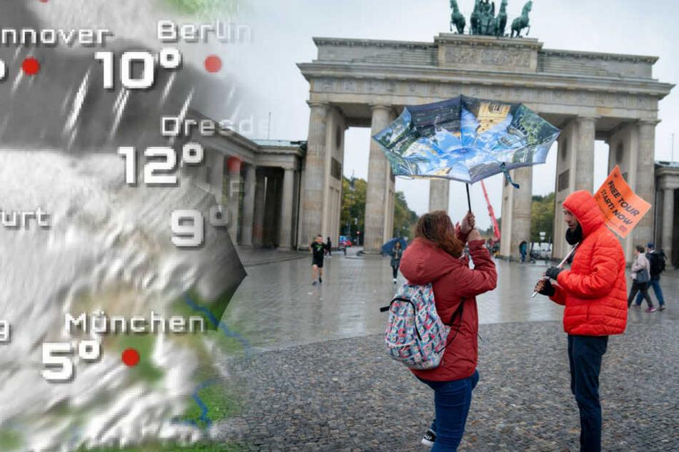 In Berlin wird es kühl und nass. (Symbolbild)