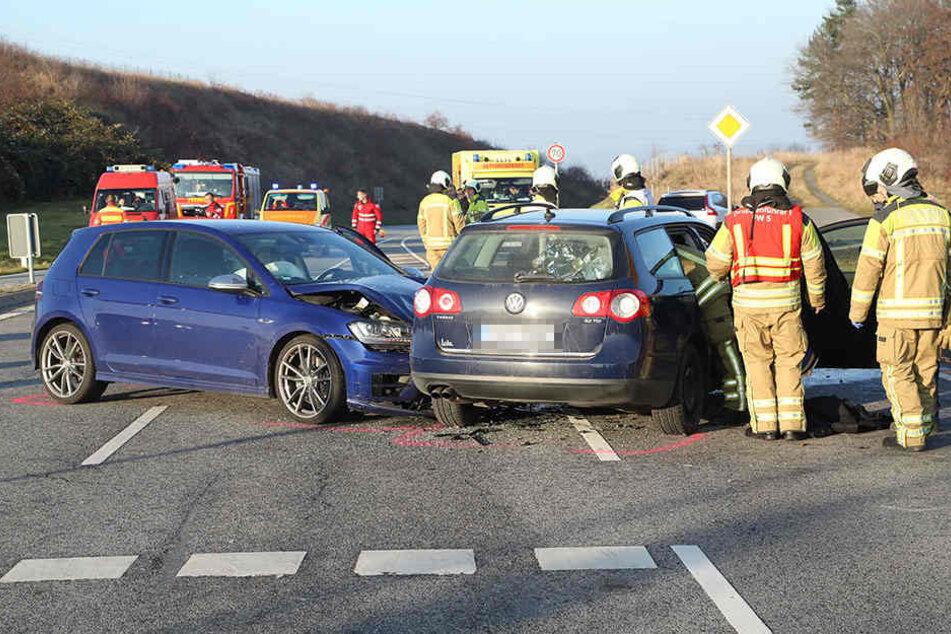 Schwerer Crash am äußeren Rand von Dresden.