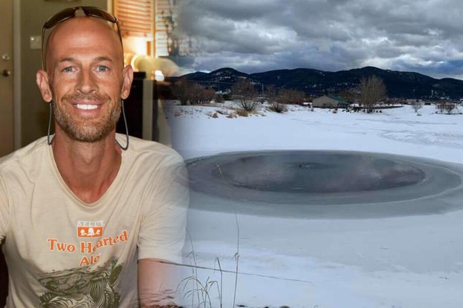 Mann sieht diesen See und zieht sich sofort komplett aus