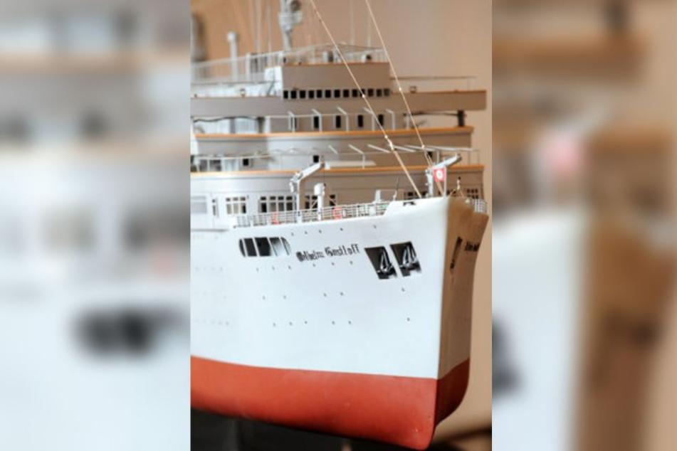 """Modell der """"Wilhelm Gustloff"""" im Internationalen Maritimen Museum."""