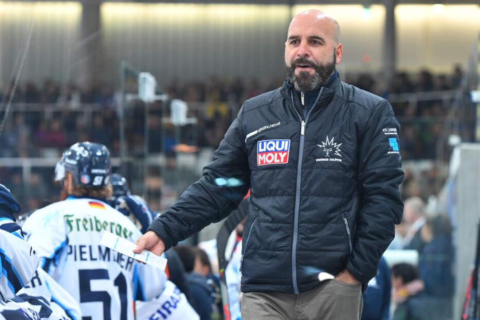 Gibt seinen Jungs trotz der Pleite in Crimmitschau frei: Trainer Rico Rossi.