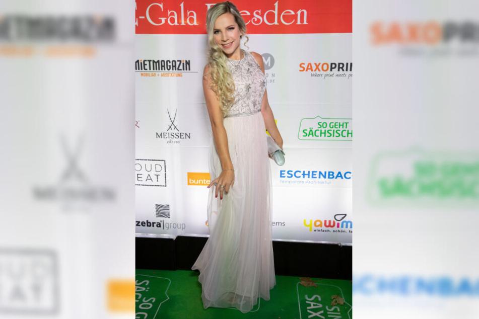 Sängerin Sophia Venus bei 14. HOPE-Gala in Dresden.