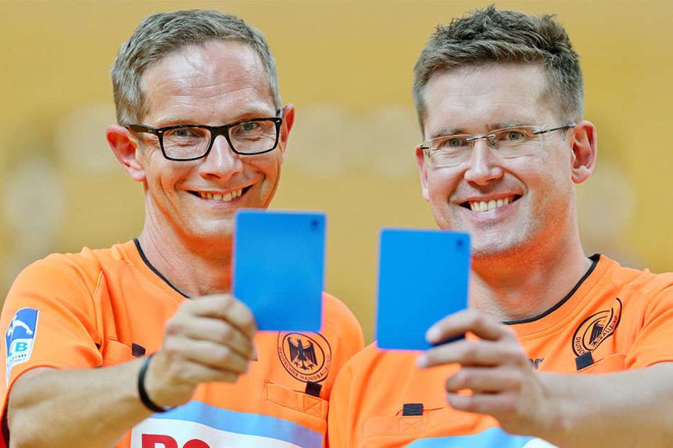 Marcus Helbig und Lars Geipel pfeifen seit über 20 Jahren zusammen, die beiden sind ein eingespieltes Team.