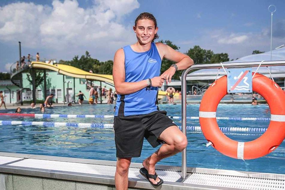 Rettungsschwimmer Ricky Vogt (20).