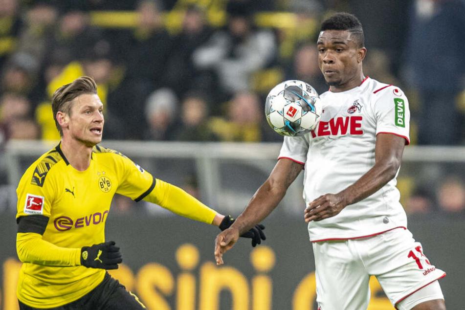 Kölns Cordoba konnte sich in Dortmund nicht entscheidend durchsetzen.