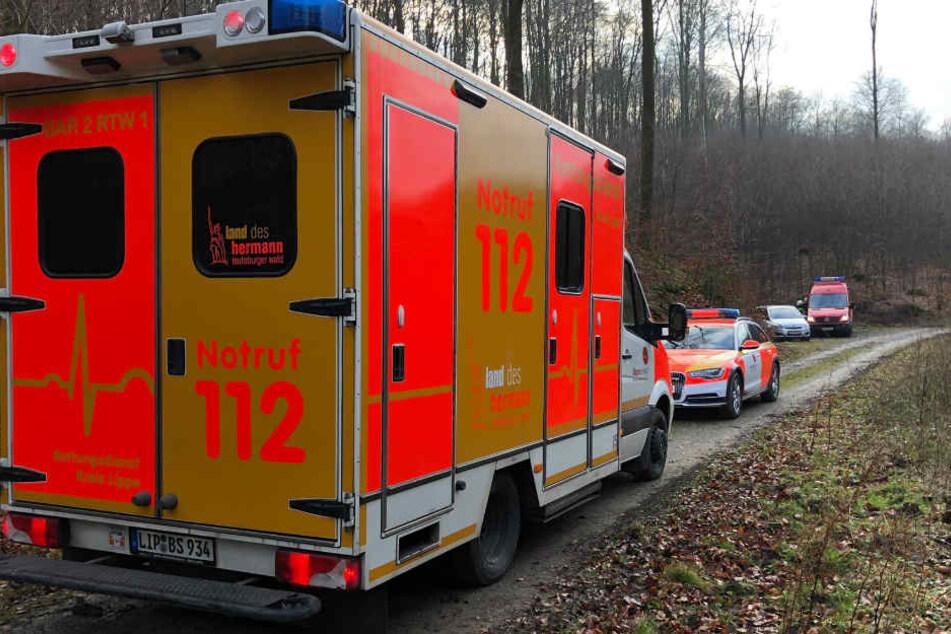 Der Einsatztrupp des Löschzuges Bösingfeld rückte aus, um den schwer verletzten Jugendlichen zu retten.