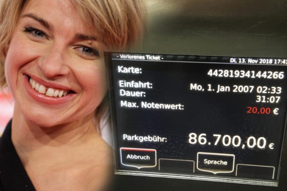 Parkautomat in Köln will 86.700 Euro von Moderatorin abkassieren!