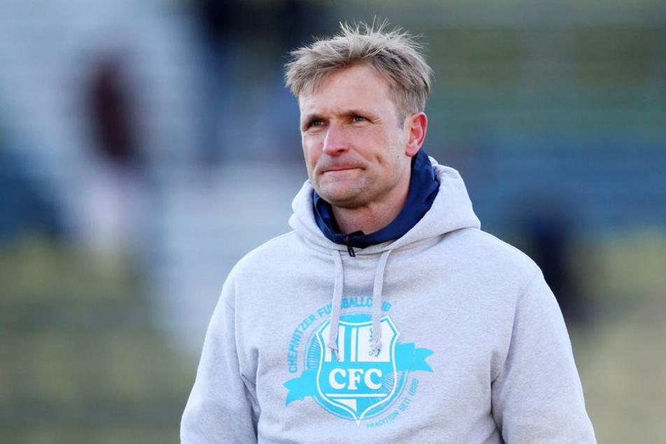 CFC-Trainer David Bergner war mit der Viererkette gegen Karlsruhe zufrieden.