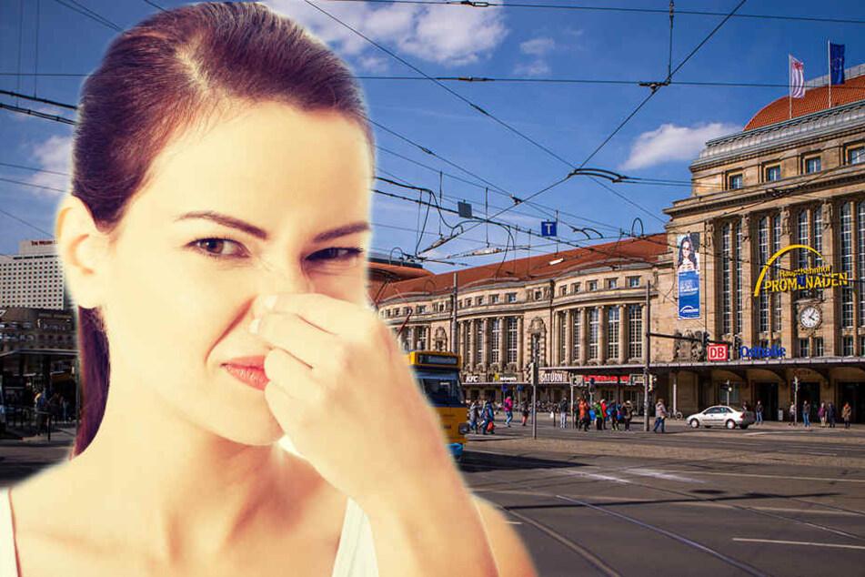 Vor allem vor und neben dem Leipziger Hauptbahnhof stinkt es an manchen Tagen zum Himmel!