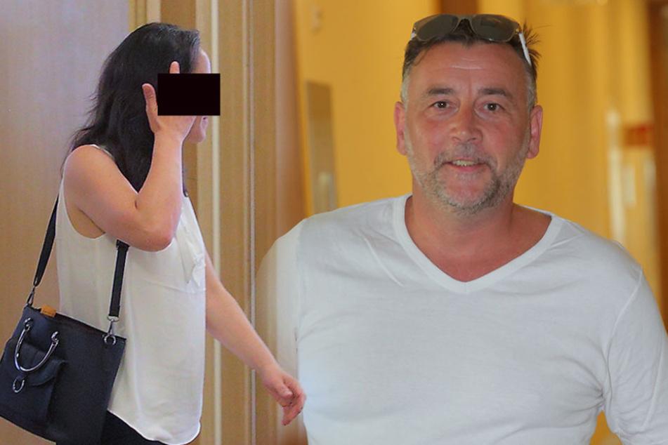 Links: Ines A. (40) kehrte PEGIDA schon vor Jahren den Rücken. Rechts: Erschien in T-Shirt, Shorts und Badeschlappen vor Gericht: PEGIDA-Initiator Lutz Bachmann (45).