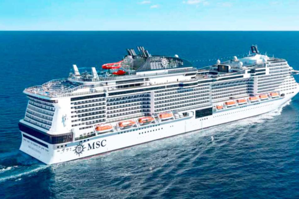 Die MSC Grandiosa ist das neueste Schiff der MSC-Reederei.