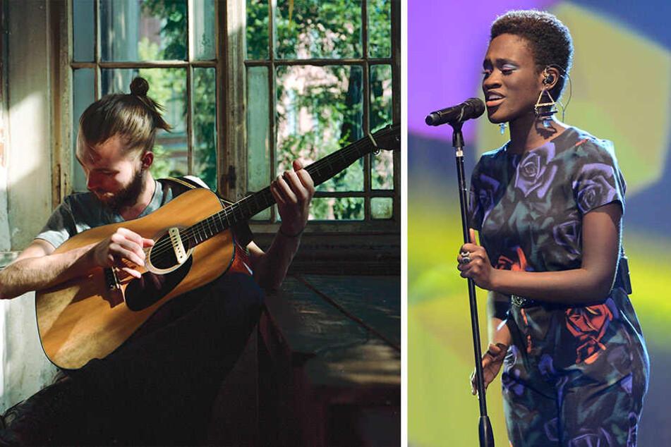 """Auch Xavier Darcy und die erste """"The Voice of Germany""""-Gewinnerin Ivy Quainoo bewerben sich um das Ticket nach Lissabon."""