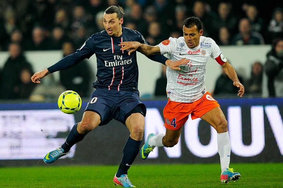 Hilton (r.) im Duell mit dem damaligen PSG-Star Zlatan Ibrahimovic.